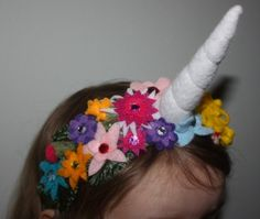Because who should have to decide between a flower crown and a unicorn horn? Kaia really wanted to wear both for her Birthday, and this is ...