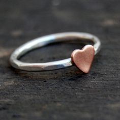 Sterling Silver Stacking Ring  - Rustic Romance - Custom Size. $20.00, via Etsy.