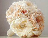 Brooch Bouquet,  Fabric Flower Bouquet,  Bridal Brooch Bouquet,  Vintage Wedding