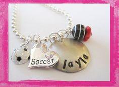 I Love Soccer - Necklace for Girls