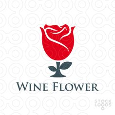 Exclusive Customizable Logo For Sale: Wine Flower | StockLogos.com