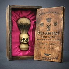 skull shaving brush