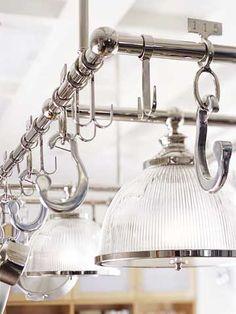 BHG Showcase Kitchen. Pot Rack ... & Elegant Designs 2-Light Brushed Nickel Accents Kitchen Wood Pot ... azcodes.com
