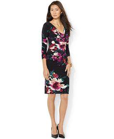 Lauren Ralph Lauren Petite Floral-Print Sheath Dress