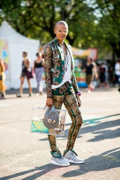 The Best Street Style From Afropunk  - ELLE.com-- I feel like my friend Kiera could pull something like this off