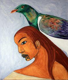 Robyn Kahukiwa, Wahine Me Kereru, 2014 Image Symbols, New Zealand Art, Nz Art, Maori Art, Castle In The Sky, Kiwiana, Artist Painting, Art Google, Art History