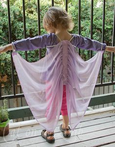 Homemade silk fairy wings tutorial from Cat on a Limb