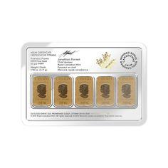 Emergency 1/10th oz. Bars | Legal Tender Bar Gold Bullion Gold Coin | Goldline
