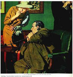 """Austin Briggs """"Frame-Up For Murder"""" S.E. Post, 1958"""