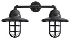 Atomic Double Market Industrial Guard Sconce - industrial - Wall Sconces - Tampa - Barn Light Electric Company