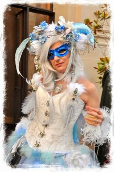 Lady in blue -  Masquerade Ball Labyrinth of Jareth 2014 Fantasy Masque Event - Costume Ideas - LOJ -  #labyrinth  #loj  #Masqueevent #fantasyball   - Keep Calm and Craft On: Review of Labyrinth of Jareth 2014 Fantasy Masquerade Ball & Photos