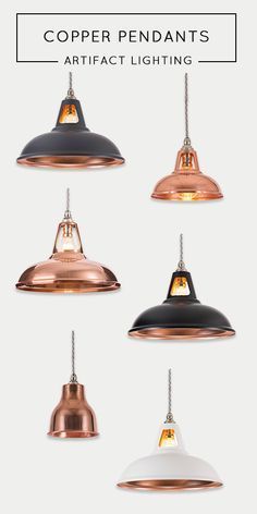Decor like a pro with these industrial style lamps and get that dreamy home you've been looking for! The contemporary home design ideas to have the dreamlike home you've ever wanted! Industrial Style Lamps, Vintage Industrial Lighting, Industrial Pendant Lights, Kitchen Pendant Lighting, Kitchen Lights Uk, Lighting Uk, Lighting Design, Copper Lighting, Copper Lamps