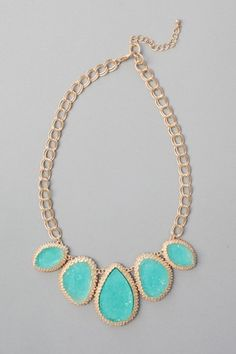 Ice Cavern Necklace - Aqua