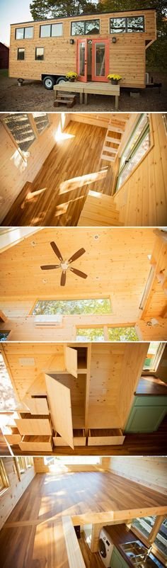 The Peponi: a double loft tiny house from Perch and Nest
