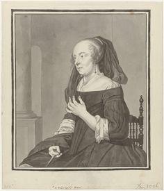 Portret van de vrouw van Gabriël Metsu, Julius Henricus Quinkhard, Gabriël Metsu, 1744 - 1795