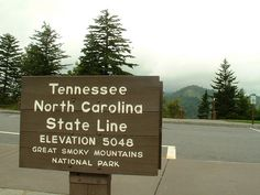 Tennessee/North Carolina state line sign at Newfound Gap - I would like a picture with this sign!!!