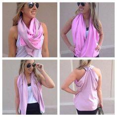 Vinyasa scarf - ways to wear it