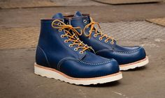 Red Wing Indigo Portage Leather Moc Toe Boot - need to add to the collection.