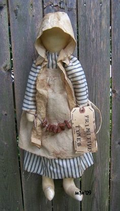 early primitive prairie doll