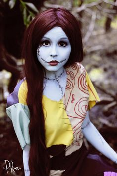 Nightmare before Christmas Sally Kostüm selber machen Halloween Makeup halloween makeup nightmare before christmas Costume Halloween, Christmas Costumes, Cool Costumes, Fall Halloween, Cosplay Costumes, Happy Halloween, Christmas Makeup, Costume Ideas, Tim Burton Halloween Costumes