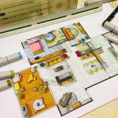 Floor plans copic