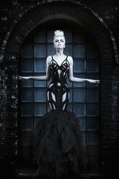 Robert-Coppa-Black Ribbon Dress
