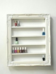 Framed nail polish cabinet
