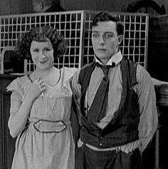 Virginia Fox in her first film with Buster - Neighbors 1920