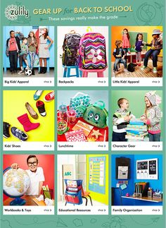 Win $500 zulily credits in a #BackToSchool Giveaway! Ends 8/11 | The Mommy Bunch