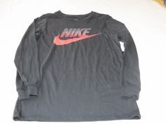Boys Youth The Nike TEE S Athletic Black 010 T shirt Swoosh NEW 714945 Training #Nike