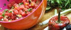 Refreshing: watermelon salsa!