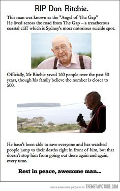 A man who restored faith in humanity…