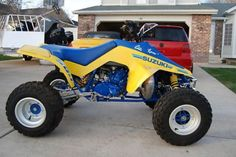 Suzuki 500 quadzilla. One mean machine. I miss having this beast.
