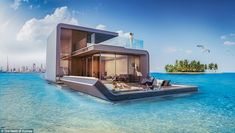Floating Seahorse is a floating villa, which has been cleverly designed and developed in Dubai. Images credit Kleindienst Group The Floating Seahorse by… Underwater Bedroom, Underwater Homes, Luxury Houseboats, Sleep With The Fishes, Living In Dubai, Luxury Living, Houseboat Living, Dubai World, Heart Of Europe