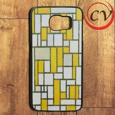 Mondrian Composition With Gray And Light Brown Samsung Galaxy S6 Edge Case