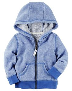 Baby Boy French Terry Zip-Front Hoodie from Carters.com. Shop clothing  amp 42d8f5349