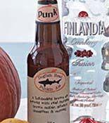 Pumpkin Ale Float    1/2 cup heavy cream  1 tablespoon sugar  1 teaspoon ground cinnamon  1 pint vanilla ice cream  Two 12-ounce bottle Dogfish Head Punkin Ale  4 gingersnaps, crumbled