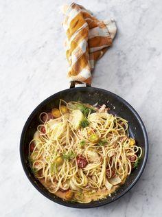 Crab & fennel spaghetti