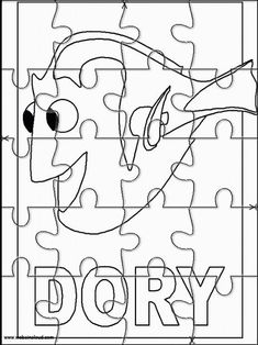 Finding Nemo Printable Jigsaw Puzzles to cut out for kids 4 Nemo Crafts For Kids, Daycare Crafts, Toddler Crafts, Projects For Kids, Diy For Kids, Disney Activities, Activities For Kids, English Activities, Disney Coloring Pages