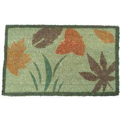 Summer Flower Outdoor Door Mat - 18 x 30 Decorative Coco Coir Doormat by Rubber-Cal, http://www.amazon.com/dp/B004D1BDXA/ref=cm_sw_r_pi_dp_HCsNrb0ABBRYE