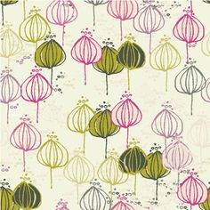 """""""Tres amigas"""", repeat pattern, copyright Bethania Lima. Available for sale, as a fabric, at Spoonflower."""