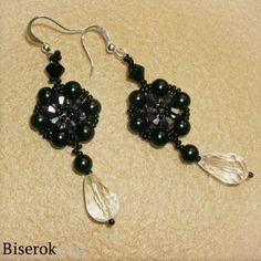 Beautiful and very simple earrings beads and their scheme for beginners