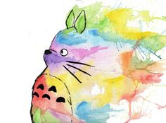 Totoro; cool idea of taking simple line drawing and amping it