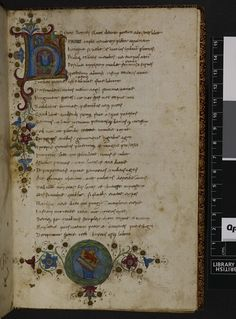 Decorated initial BL Harley 2581   f. 1