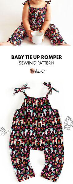 Baby Romper - Sewing Pattern via Makerist.com #sewingwithmakerist #sew #sewing #sewkindofwonderful #sewingpattern #sewinginspiration #diy #handmade #homemade #sewingprojects #sewingtutorial #baby #babyfashion