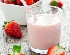 Lait frappé à la fraise