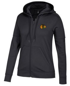adidas Women Chicago Blackhawks Logo Stitched Full-Zip Hooded Sweatshirt.  Chicago Blackhawks LogoBoston Bruins ... 4943e1583