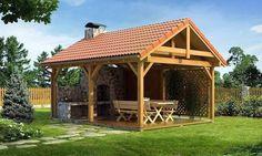 22 Beautiful Wooden Garden Designs to Personalize Backyard Landscaping Backyard Pavilion, Backyard Retreat, Backyard Landscaping, Gazebo, Diy Pergola, Pergola Kits, Pergola Ideas, Outdoor Rooms, Outdoor Living
