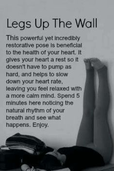 Legs Up The Wall!! It's For Your  #Health #Fitness #Trusper #Tip