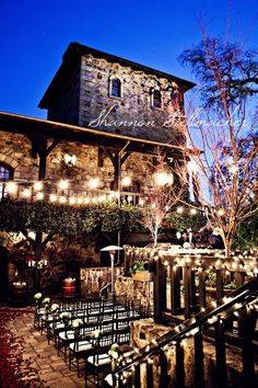 This is beautiful! I would renew vows here, eat dinner here, and love here. I really love lighting.